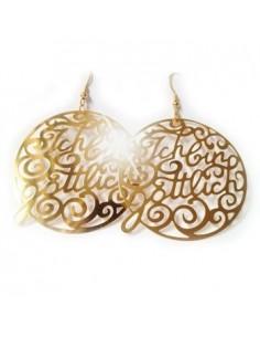 """Earrings """"I am divine"""" Gold"""