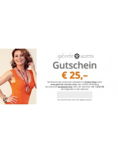 Voucher € 25,- (free shipping)