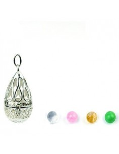 Small wish ball amulet silver