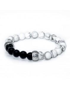 Weißes Yin-Yang-Armband